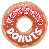 Cherry and Almond Donuts by Echilon