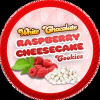 White Chocolate Raspberry Cheesecake Cookies by Echilon