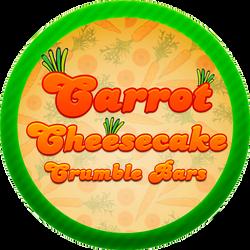 Carrot Cheesecake Crumble Bars by Echilon
