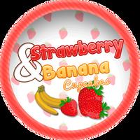 Strawberry and Banana Muffins by Echilon