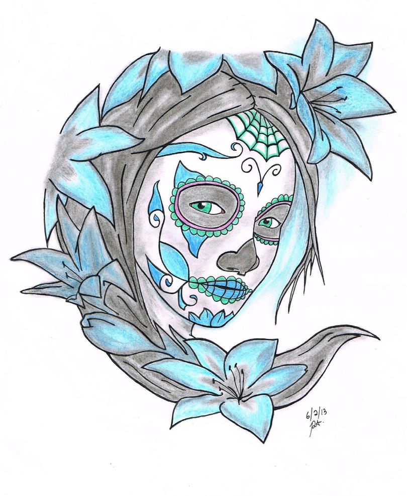 Skull Designs Drawing Easy Sugar Skull Drawings