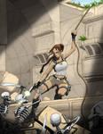 Lara temple climb