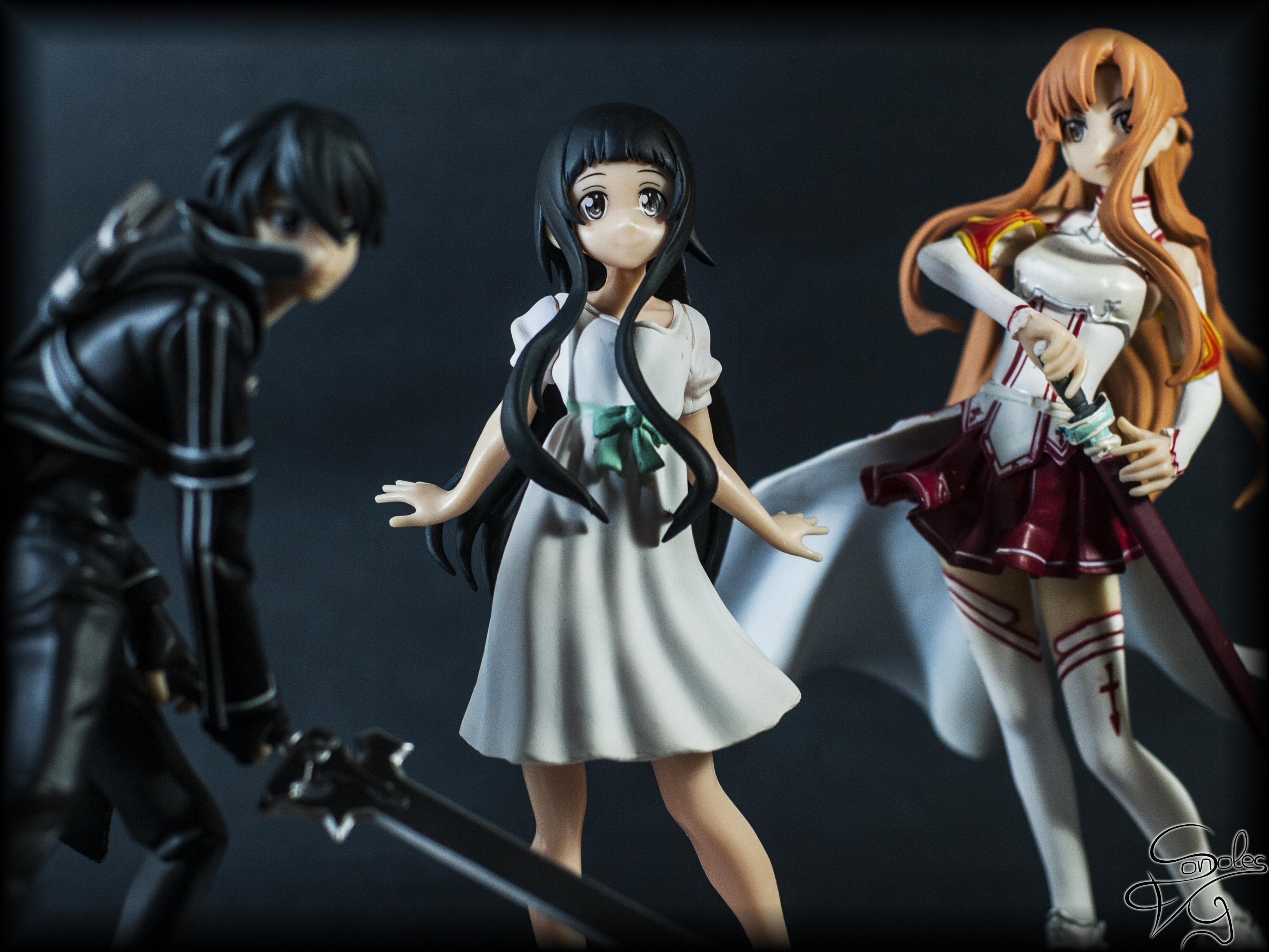 Kirito, Yui and Asuna (Sword Art Online) by sonsolesfeviga ... Sword Art Online Wallpaper 1920x1080 Yui