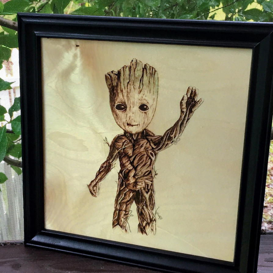 Baby Groot Wood Burning By Scorchworks