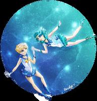 Haruka and Michiru by pirastro