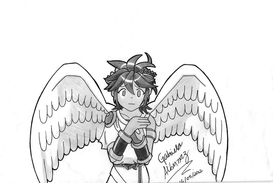 Like Baka Eu Ja Assisti Esse Anime: My First Version Of Pit By GabiAlberna On DeviantArt