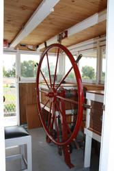 Paddle Steamer Steering Wheel by Lindalees