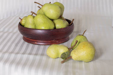 Pears from my garden by Lindalees