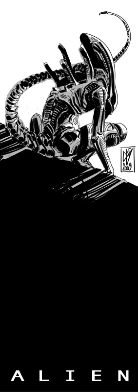 ALIEN bw by GigiCave
