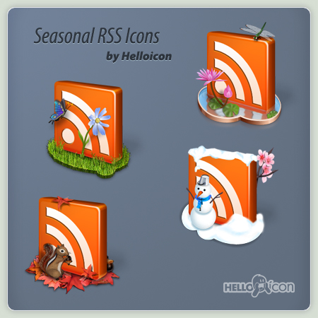 Seasonal RSS Icons by helloicon