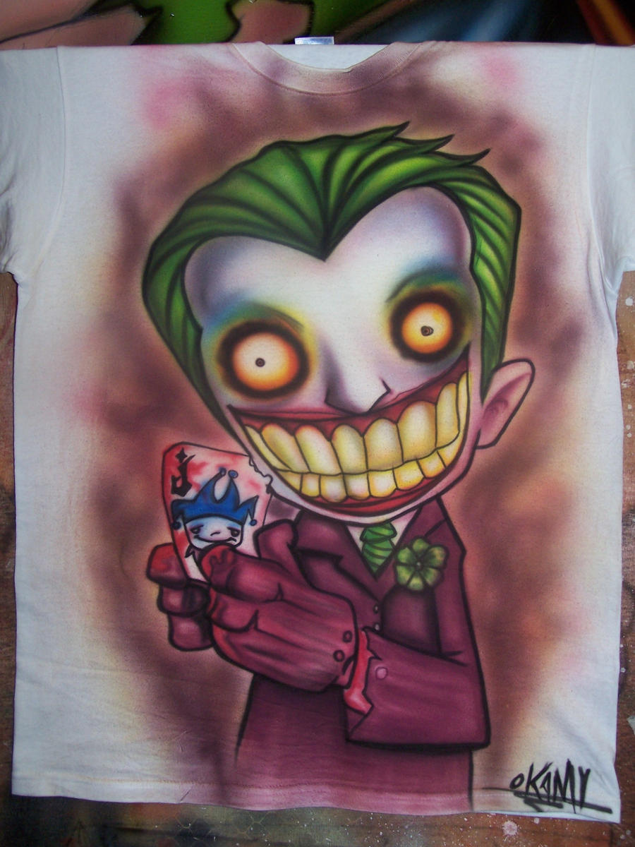 Airbrush Joker Wallpaper: Joker-airbrush-t Shirt By OKAMIAIRBRUSH On DeviantArt