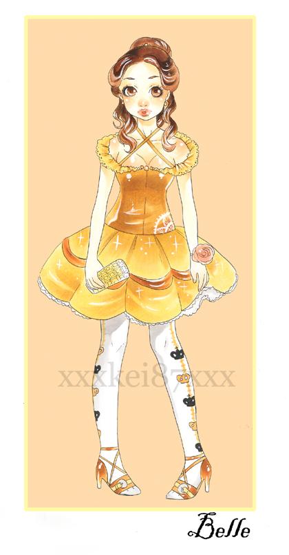 Disney Belle lolita by xxxKei87xxx