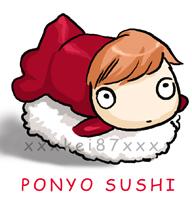 Ponyo sushi by xxxKei87xxx