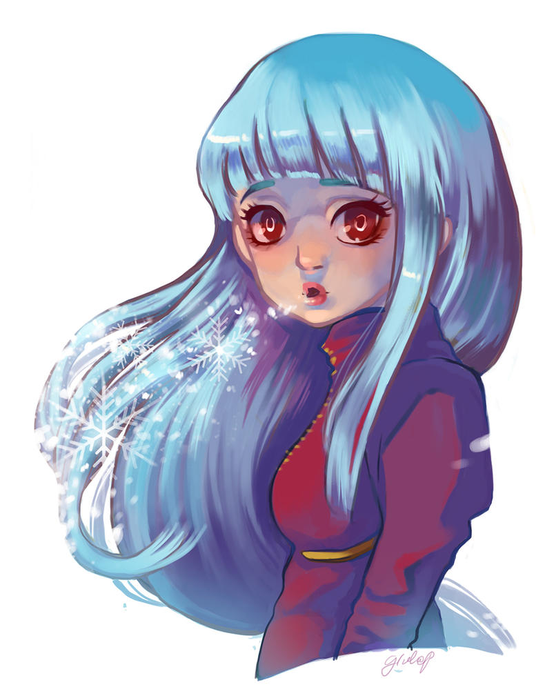 King of Fighters Kula Diamond Digital Painting by xxxKei87xxx