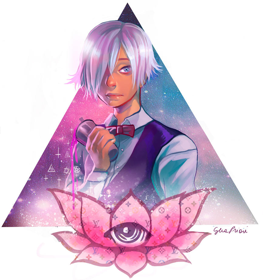 Death Parade Decim Fan art + Speed paint by xxxKei87xxx