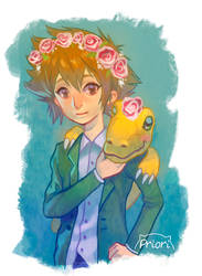 Digimon 2 ... and flower crowns by xxxKei87xxx