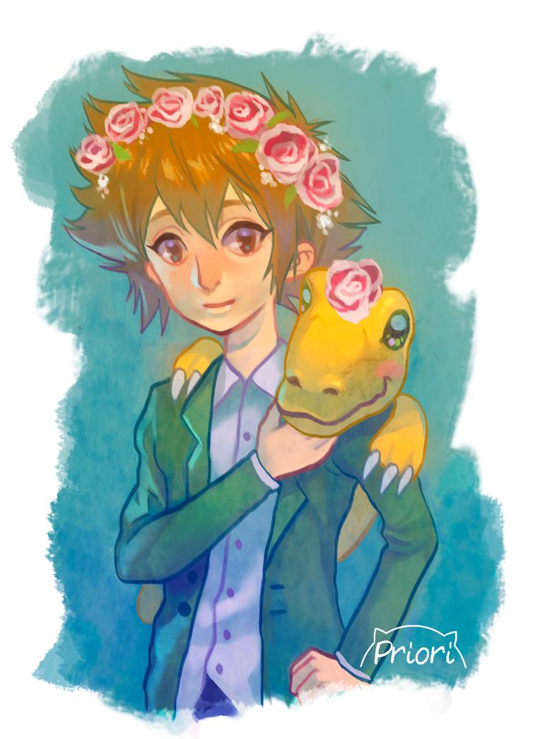 Digimon 2 ... and flower crowns by xxxKei87xxx