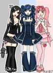 Gothic Lolita trio