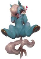 Blue horse by derekireba