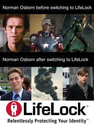 Norman Osborn switches to Lifelock.