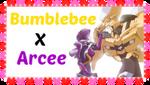 Bumblebee X Arcee Stamp by transformersfan482