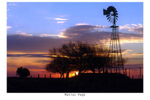 Mill Sunset by MatiasPage