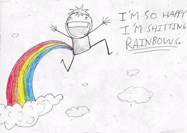 Shitting RAINBOWS