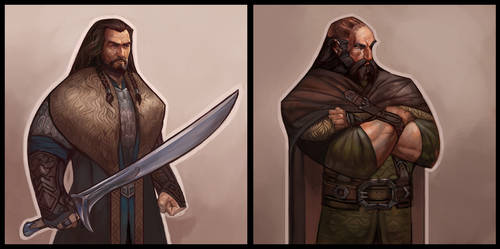 Style experiment with some dwarves :B
