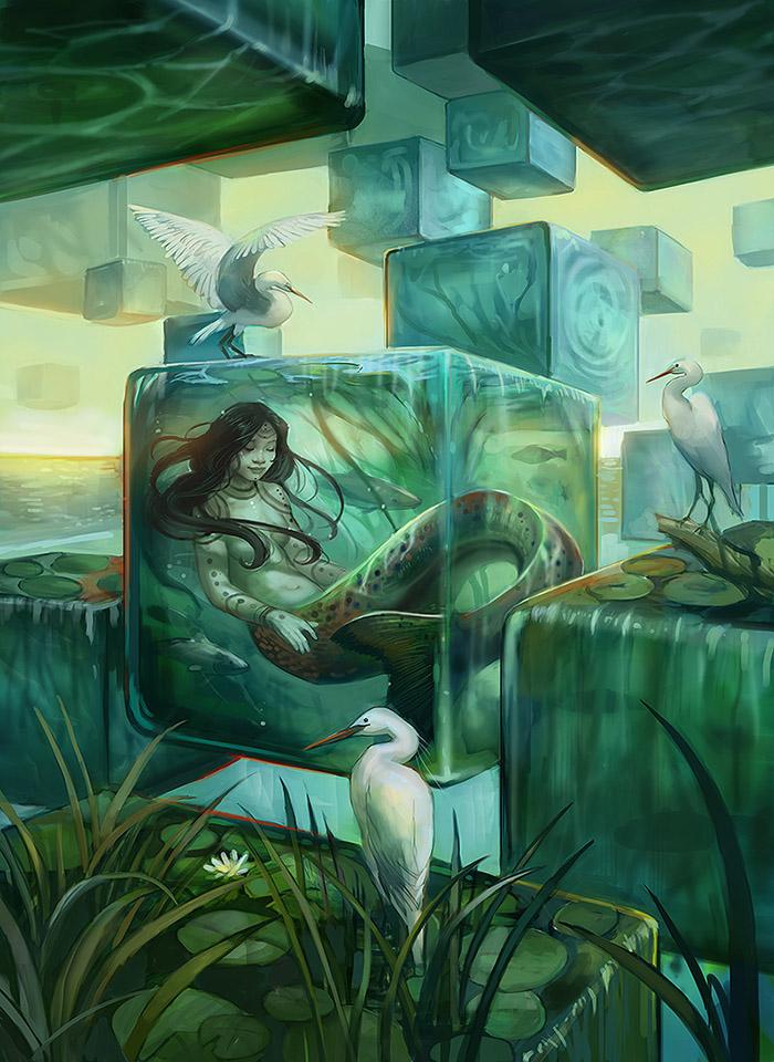 Galeria de Arte: Ficção & Fantasia 1 Slumbering_naiad_by_juliedillon-d7r4hdw