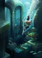 Submerged City by juliedillon