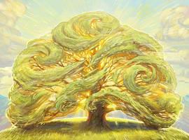 The Oak on the Hill by juliedillon