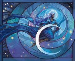 Moon Woman by juliedillon