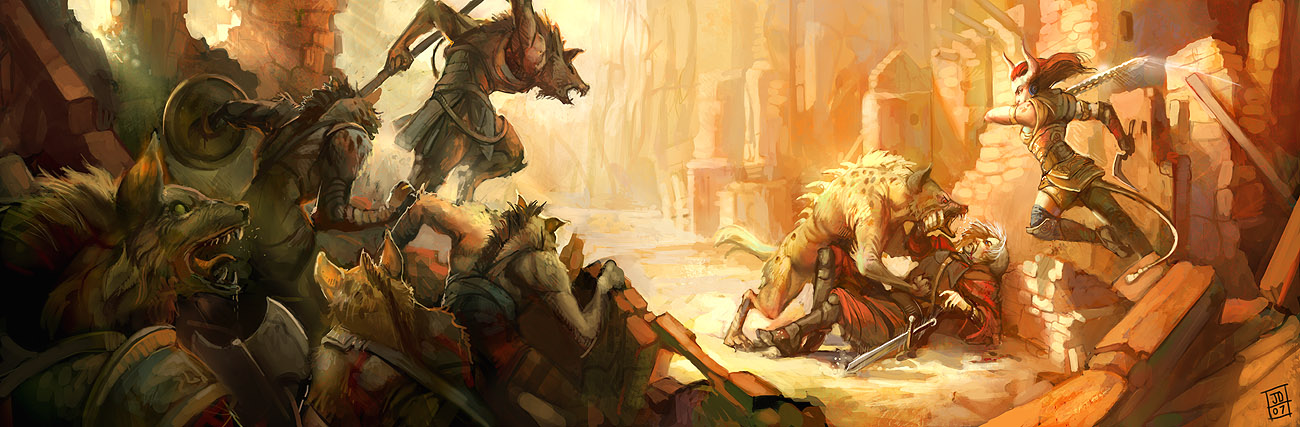 Gnolls by juliedillon