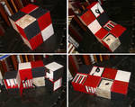 Harlequin Boxes of Books