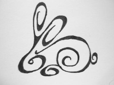 rabbit line tattoo by astilaroth on deviantart. Black Bedroom Furniture Sets. Home Design Ideas