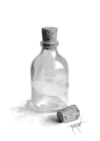 Corked Glass Bottle by Xilvian on DeviantArt