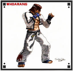 Hwoarang (TEKKEN) fight pose by aroundthewind