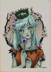 Halloween elf by aroundthewind