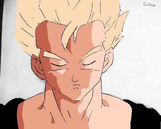 gohan coloured by aaa444nne