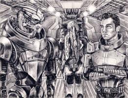 Garrus and Kaidan - No Excuses