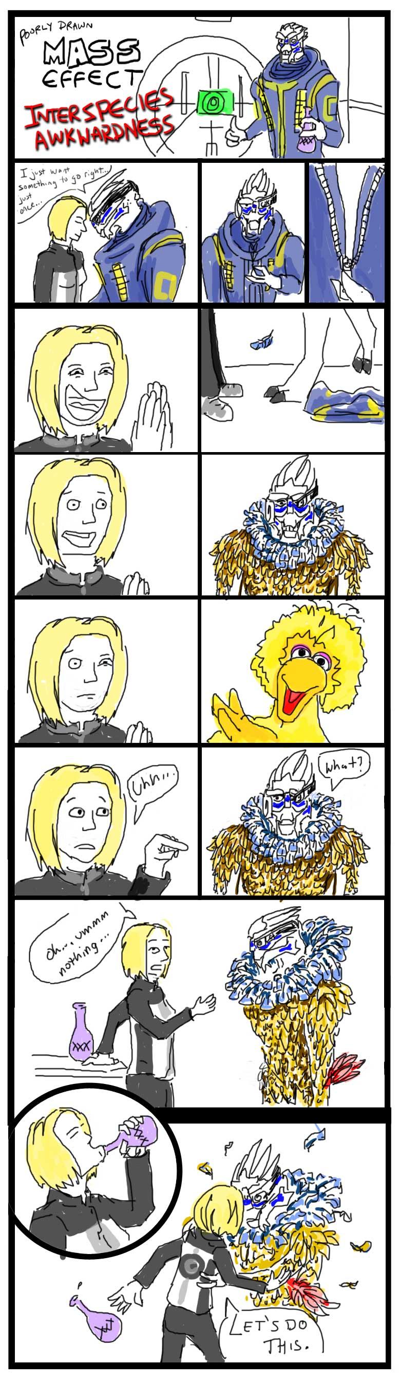 Poorly Drawn ME - Awkwardness by efleck