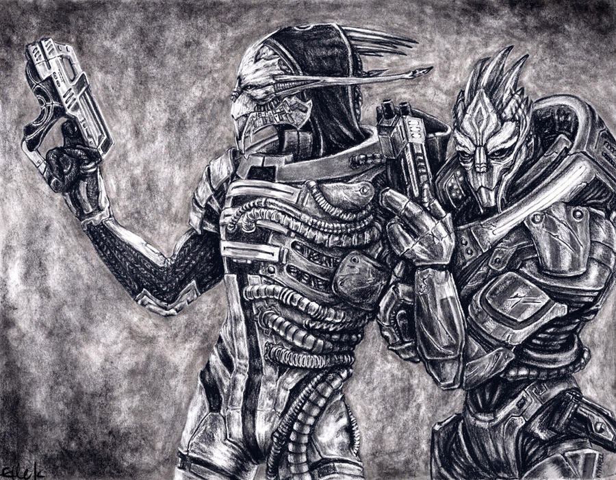 Saren and Nihlus - Allies by efleck