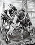 Saren and Nihlus - Surrender by efleck