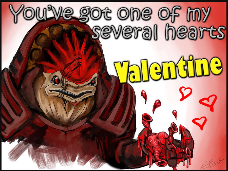 Mass Effect Valentine - Wrex by efleck