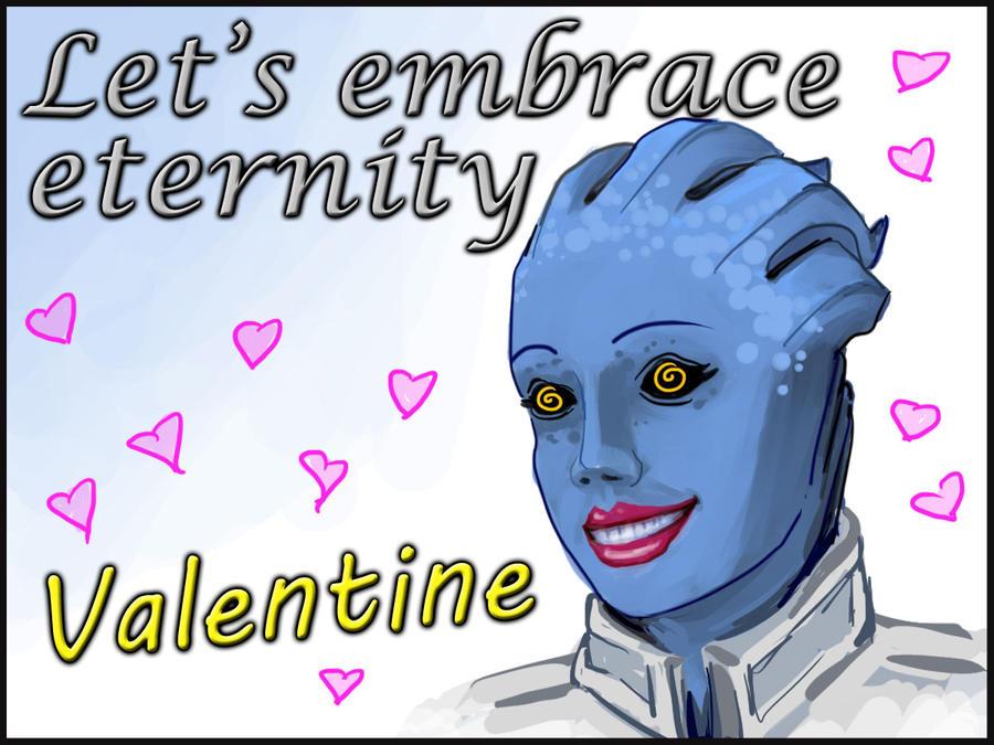 Mass Effect Valentine - Liara by efleck
