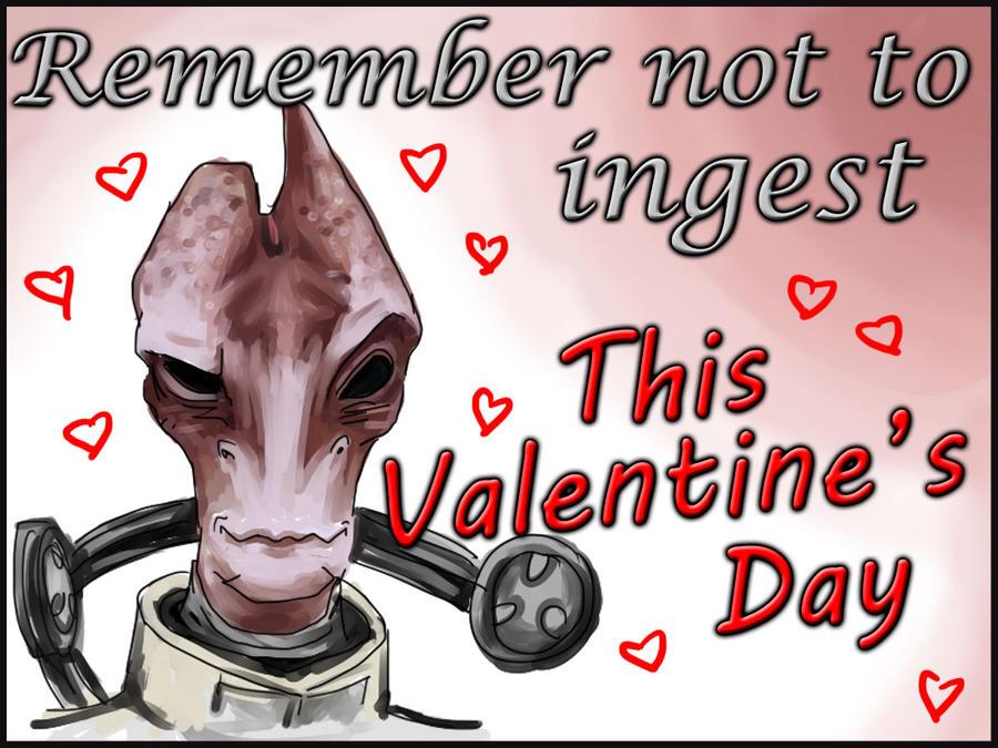 Mass Effect Valentine - don't ingest by efleck