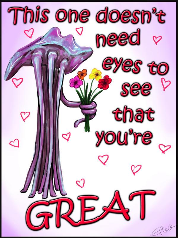 Mass Effect Valentine - Hanar Love by efleck