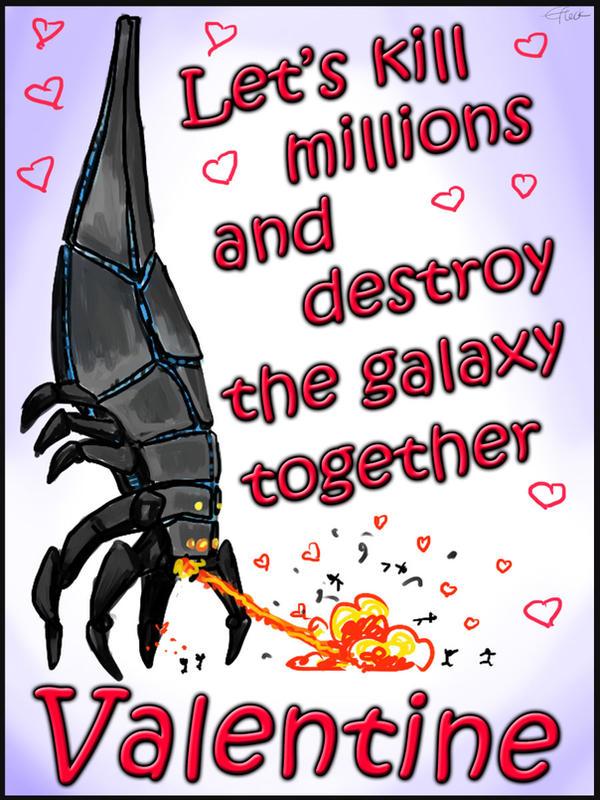 Mass Effect Valentine - Reaper Love by efleck