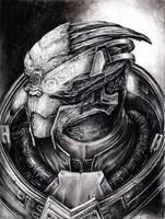 Garrus Portrait 2 by efleck