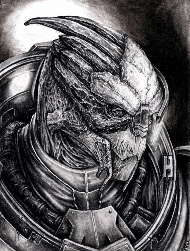 Garrus Scar Portrait by efleck